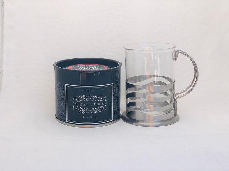 Mug vidrio y acero