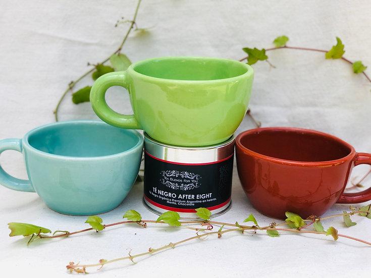 Tazas en cerámica artesanal en colores