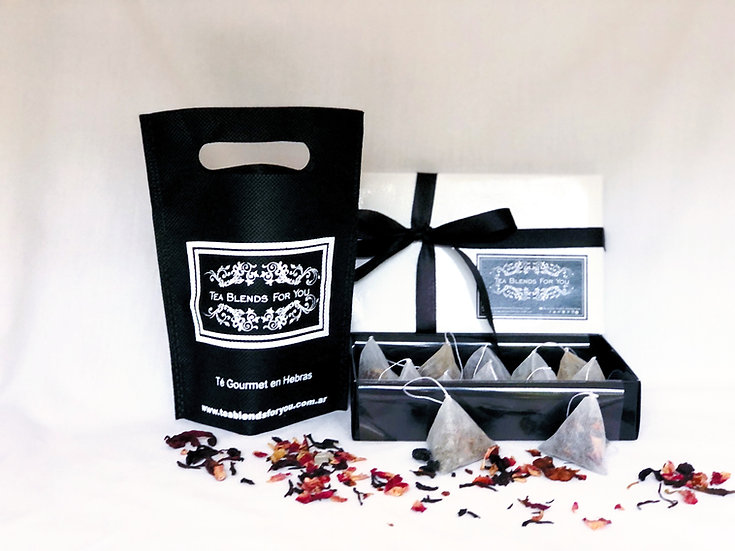 Set Handcrafted Pyramid Tea Bags