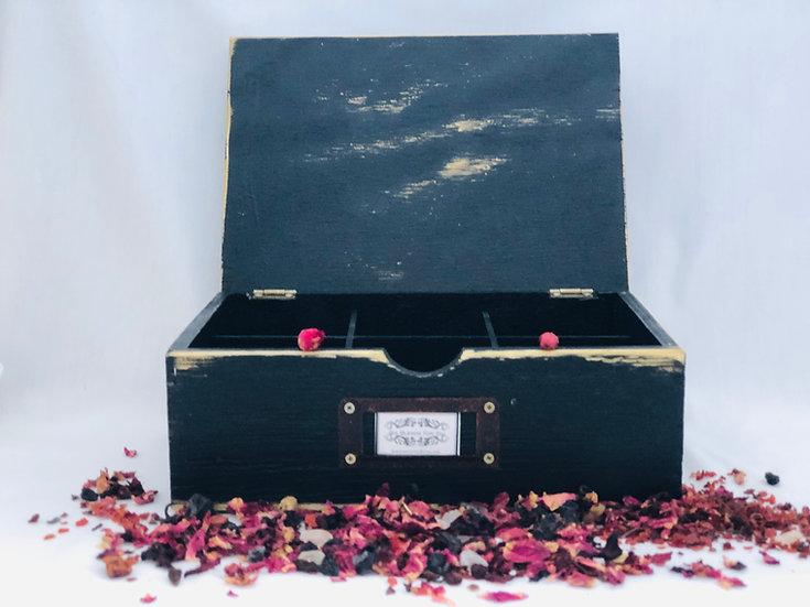 Caja de Té de madera vintage