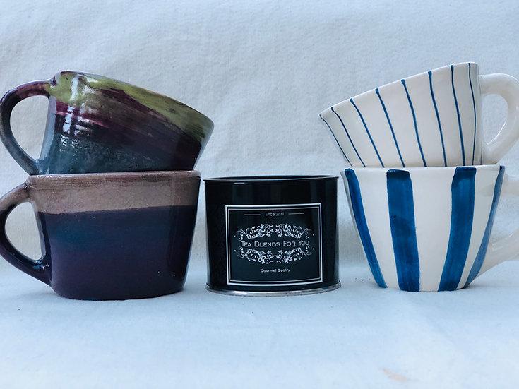 Tazas en cerámica artesanal
