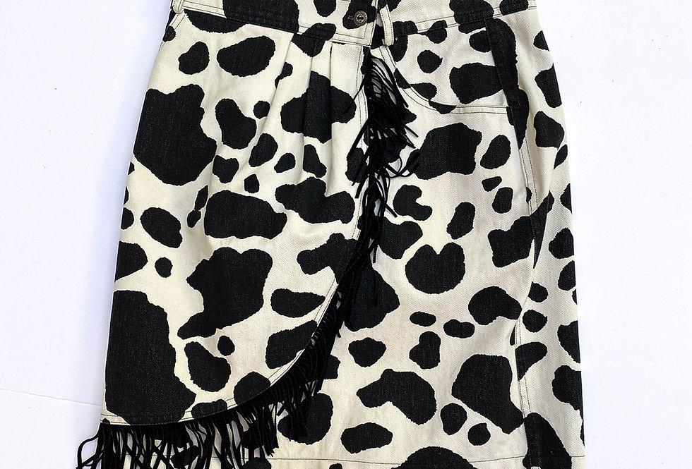 Jupe Cow Girl imprimé vache - Taille 36