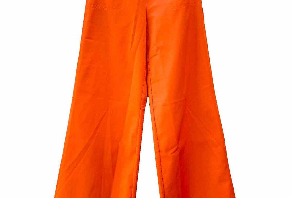 Pantalon patte d'eph corail - Taille 34
