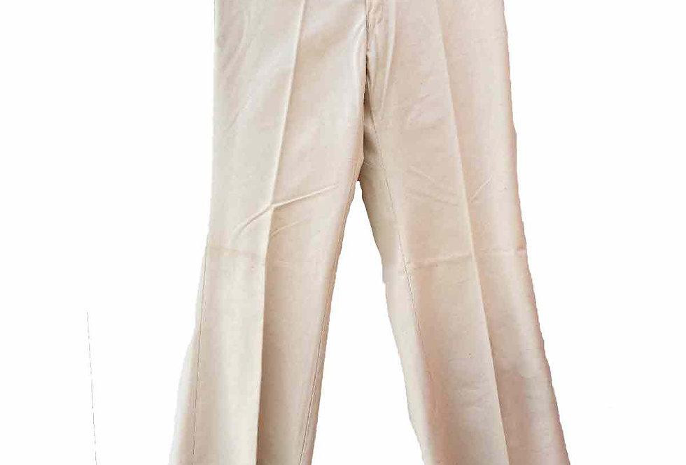 Pantalon patte d'eph beige - Taille XS - 34/36