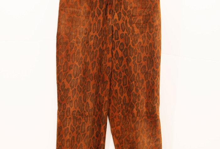 Pantalon en cuir léopard - Taille 36