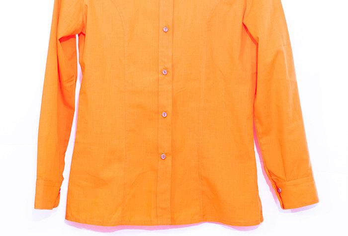 Chemise orange 70s - Taille S