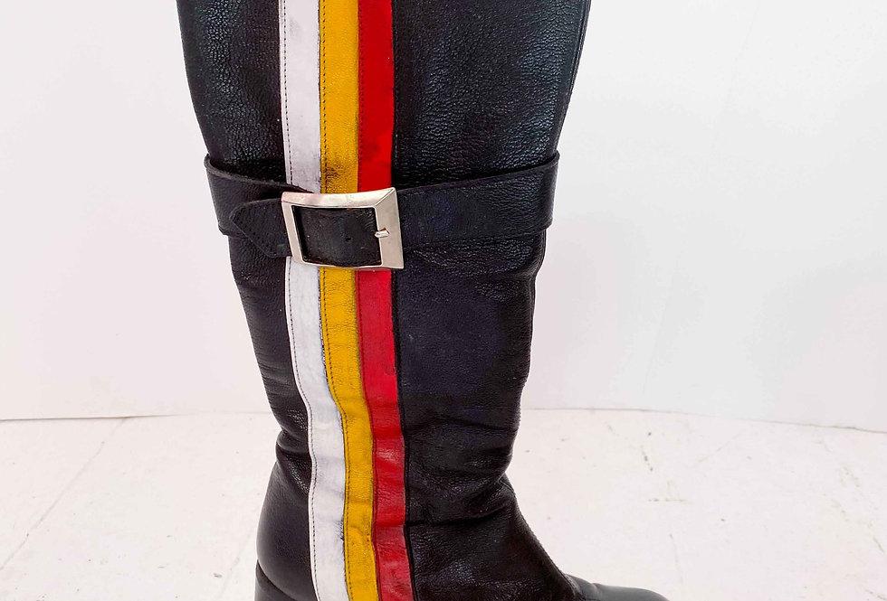 Bottes noires 90s custom - Taille 38