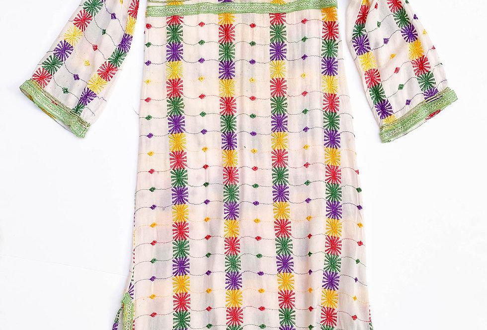 Kaftan 70s Fait Main multicolore - Taille 36