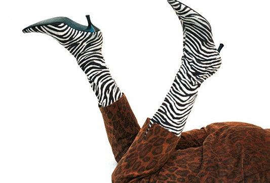 Bottes chaussettes zèbre - Taille 39