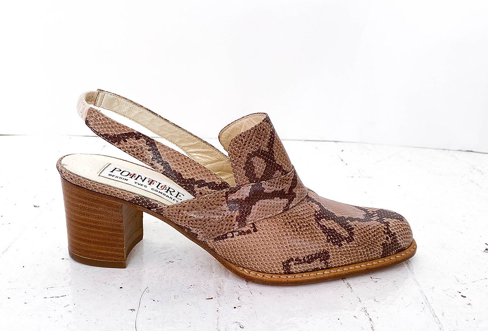 Mules-santiags python - Taille 39