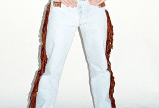 Jean Levi's custom frangé - Taille W40 L30