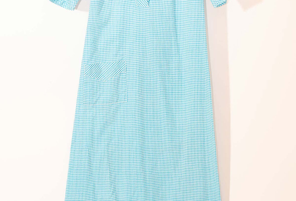 Robe-Chemise Vichy Bleue - Taille M