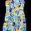 Thumbnail: Robe Psyché faite main 60s - Taille 36