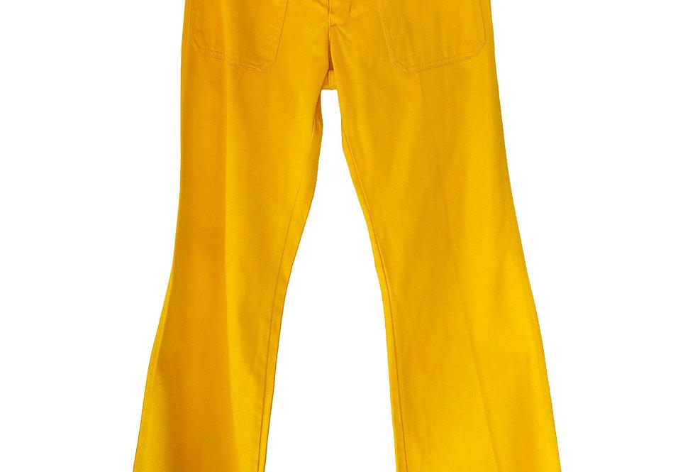 Wrangler jean patte d'eph jaune - Taille 36