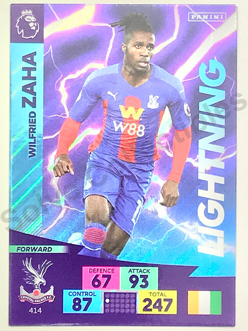 Wilfried Zaha Lightning Panini Adrenalyn XL Premier League 2020/21 Crystal Palace Football Card