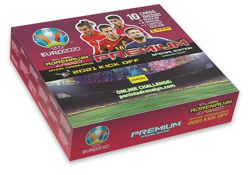 10 Premium Packs - Panini UEFA Euro 2021 KickOff Adrenalyn XL