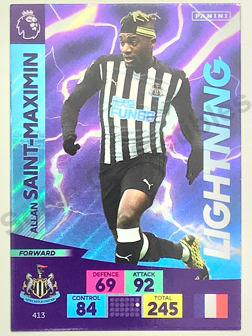 Allan Saint Maximin Panini Adrenalyn XL Premier League 2020/21 Newcastle United Football Card