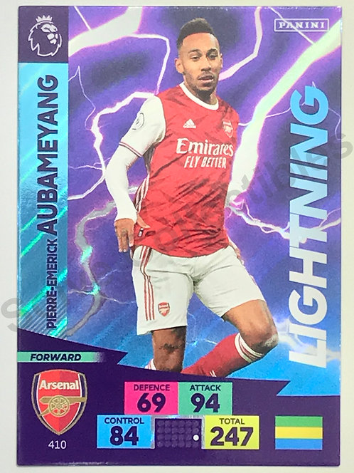 Pierre-Emerick Aubameyang Lightning Panini Adrenalyn XL Premier League 2020/21 Arsenal Football Card