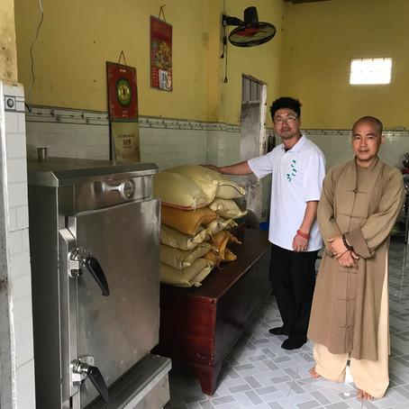 ブンタウ・バリアのお寺へ炊飯器を寄付するプロジェクト達成しました。