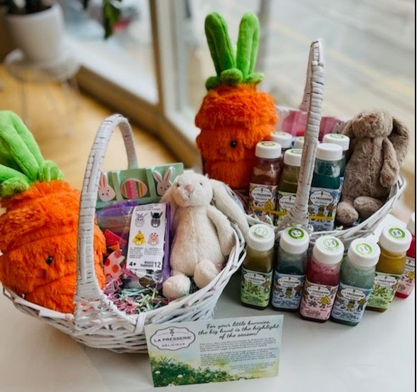 La Presserie Kids' Cold Pressed Juice Easter Basket