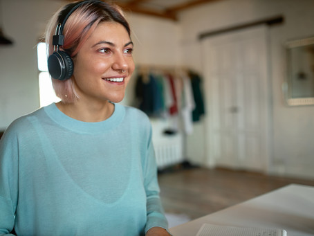 Music to boost work from home performance