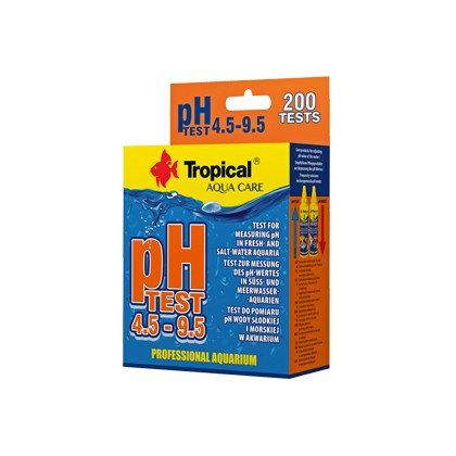 TEST pH 4.5-9.5 aquarium droplet test.