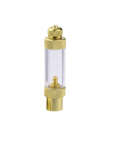 Metal bubble counter for Aqua Nova pressure regulator