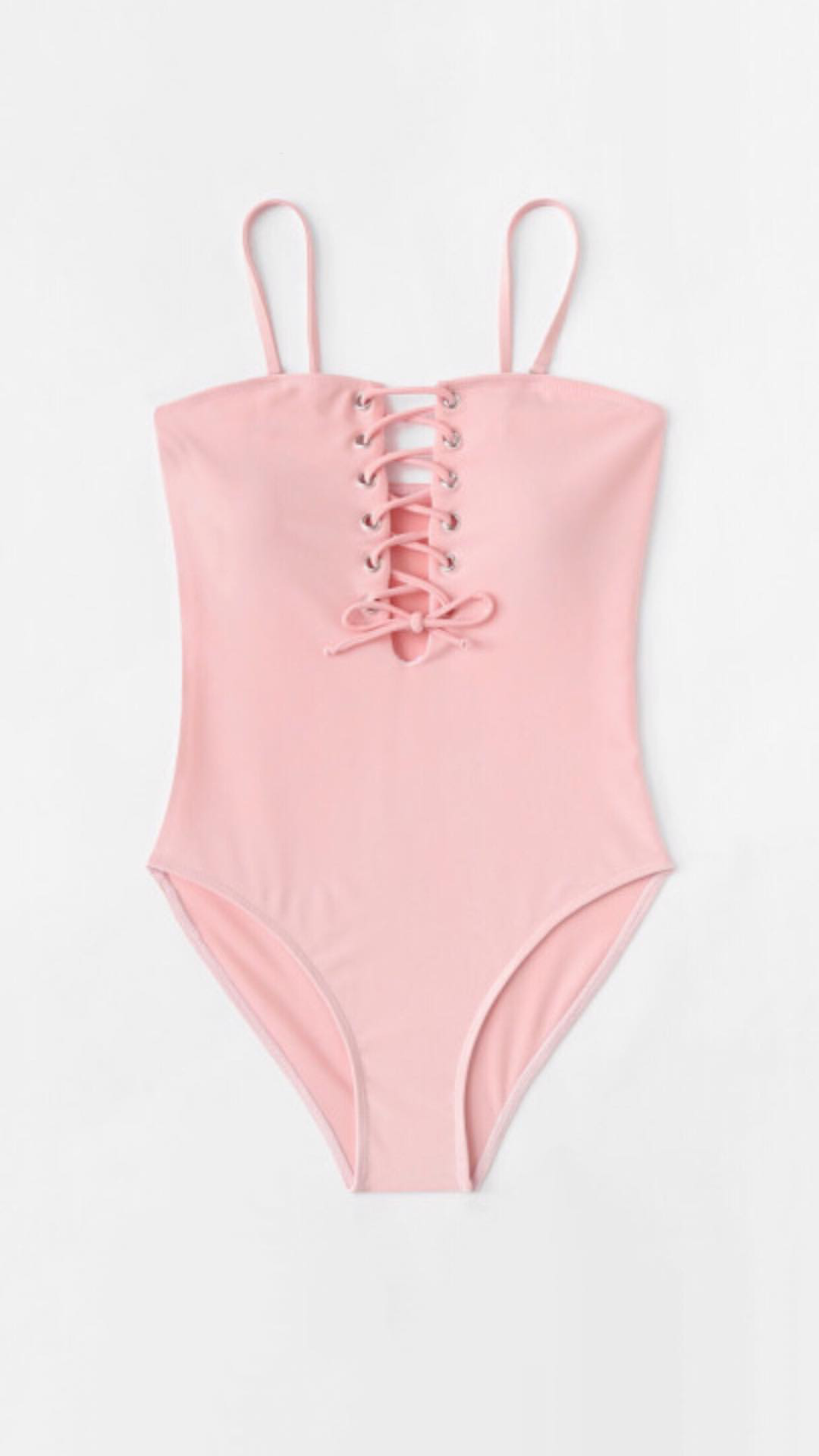 Bañador rosa pastel