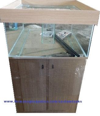 48 x 48 x 24 Aquarium - Sump - Pipework - Cabinet - surround Dark Oak