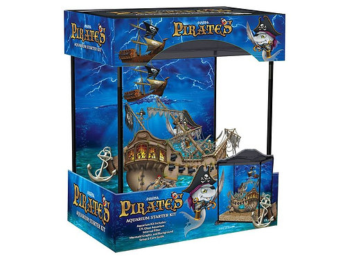 (With Cold Water Fish)	 MARINA PIRATE 17L AQUARIUM DEAL