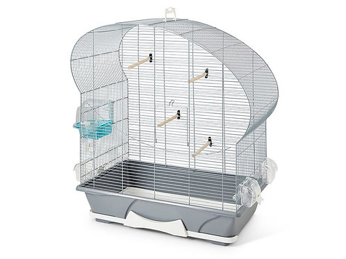 ELLIPSE 50 GREY/SILVER BIRD CAGE70X38X75