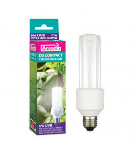 Arcadia D3 Compact Bulb, 7%, 23 Watt