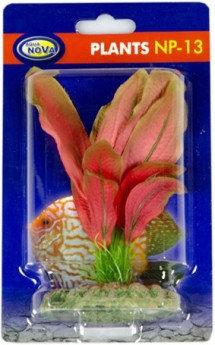 13cm plastic plant realistic red leaf type
