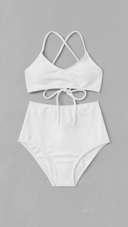 Bikini en color blanco