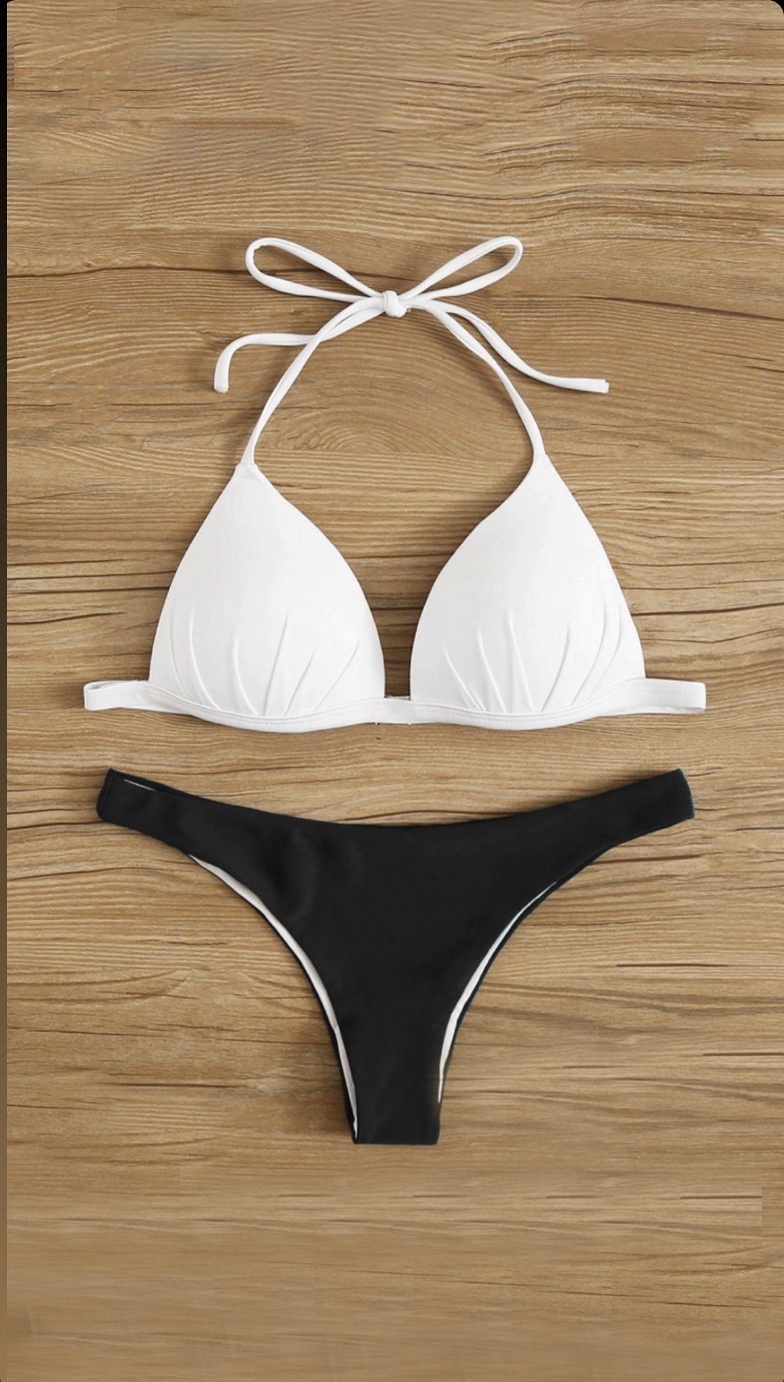 Bikini blanco con negro
