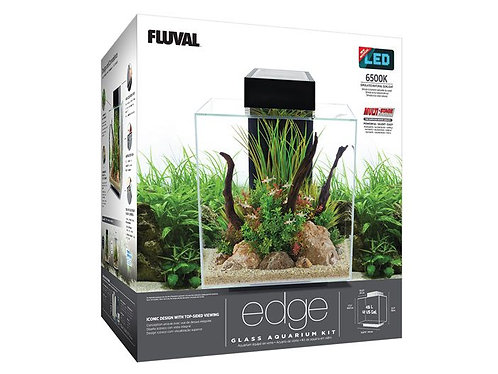 FLUVAL EDGE 2.0 46L AQUARIUM GLOSS BLACK
