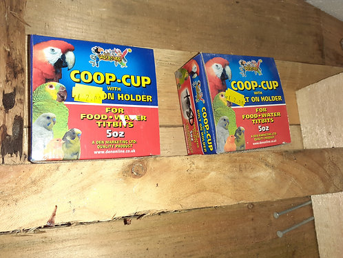 Coop cup metal clamp on