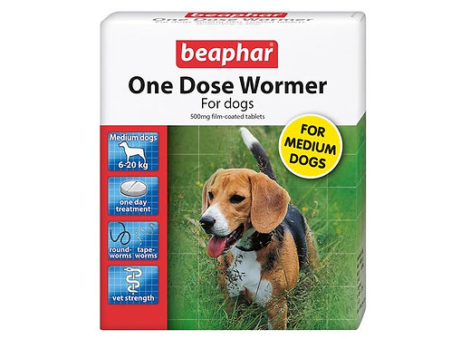 *NI VM BE ONE DOSE WORM MED DOG 2TAB