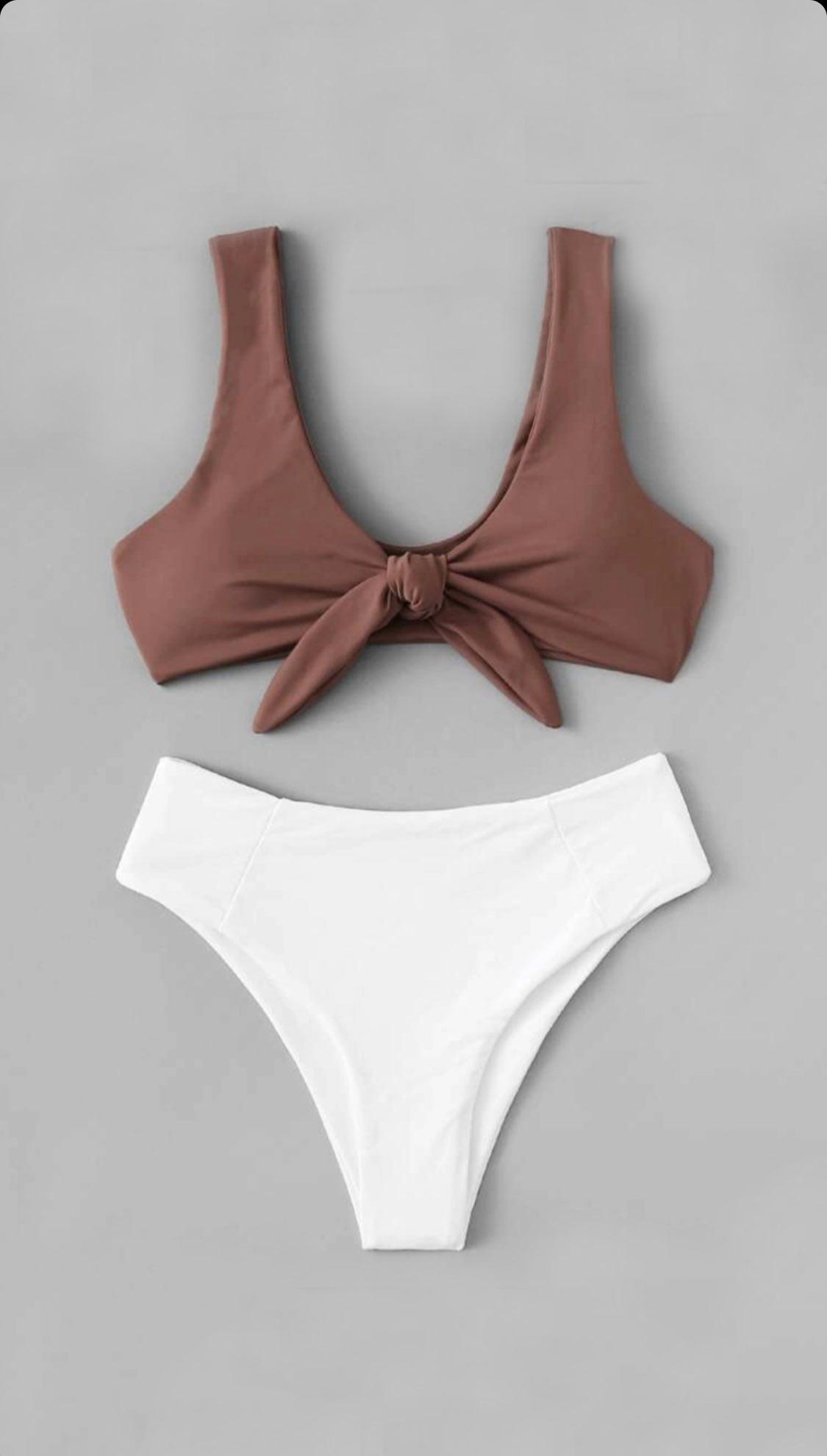Bikini café con blanco