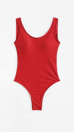 Bañador rojo espalda baja