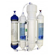 4 Stage Compact Reverse Osmosis Unit with DI Resin Filter 50gpd