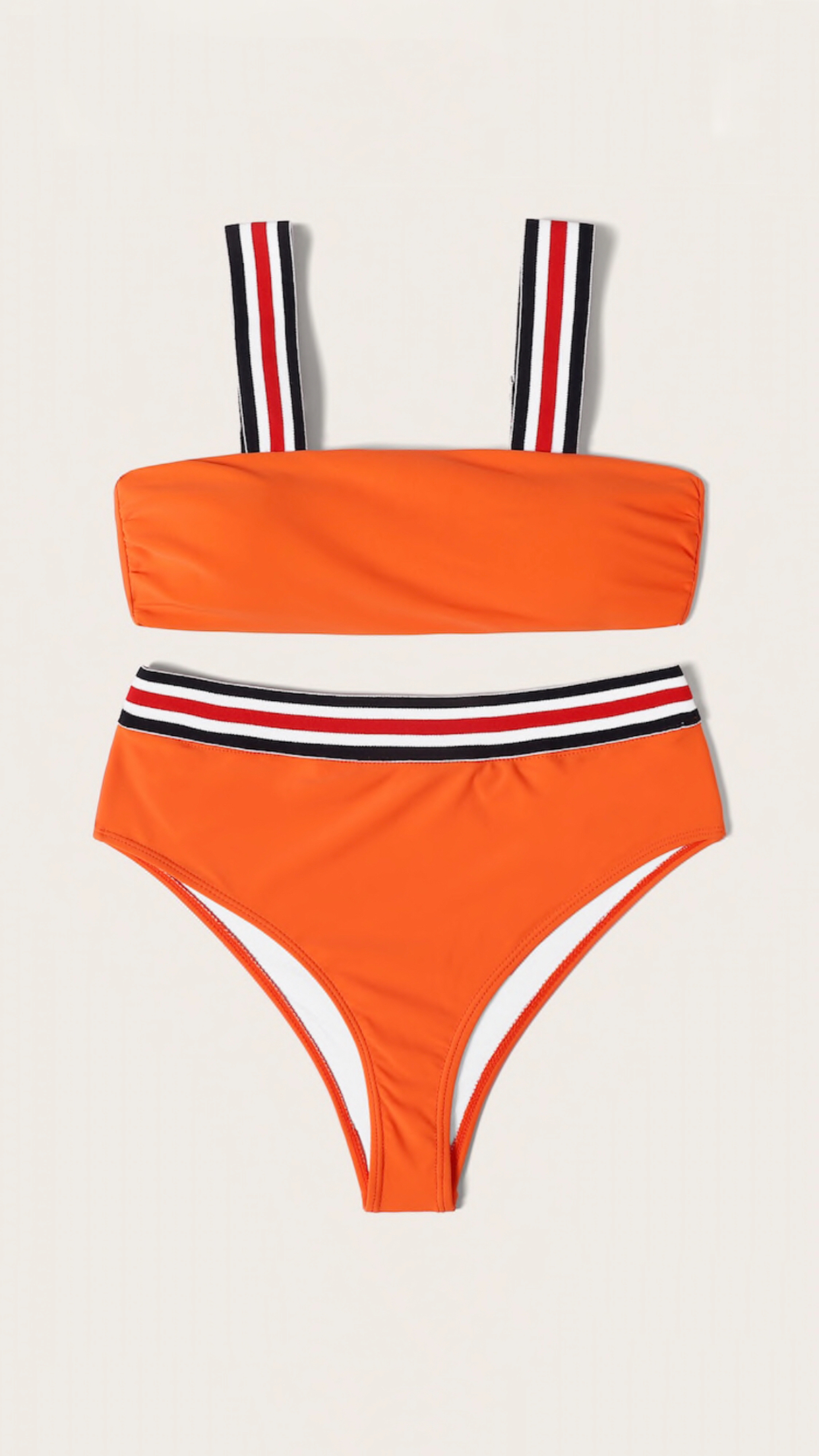Bikini naranja cintas