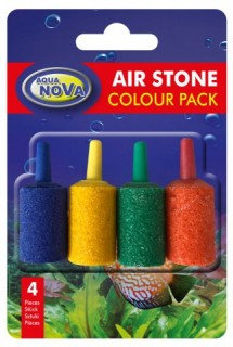 AIR STONE (15x25mm, small cylinder) 4pk Coloured
