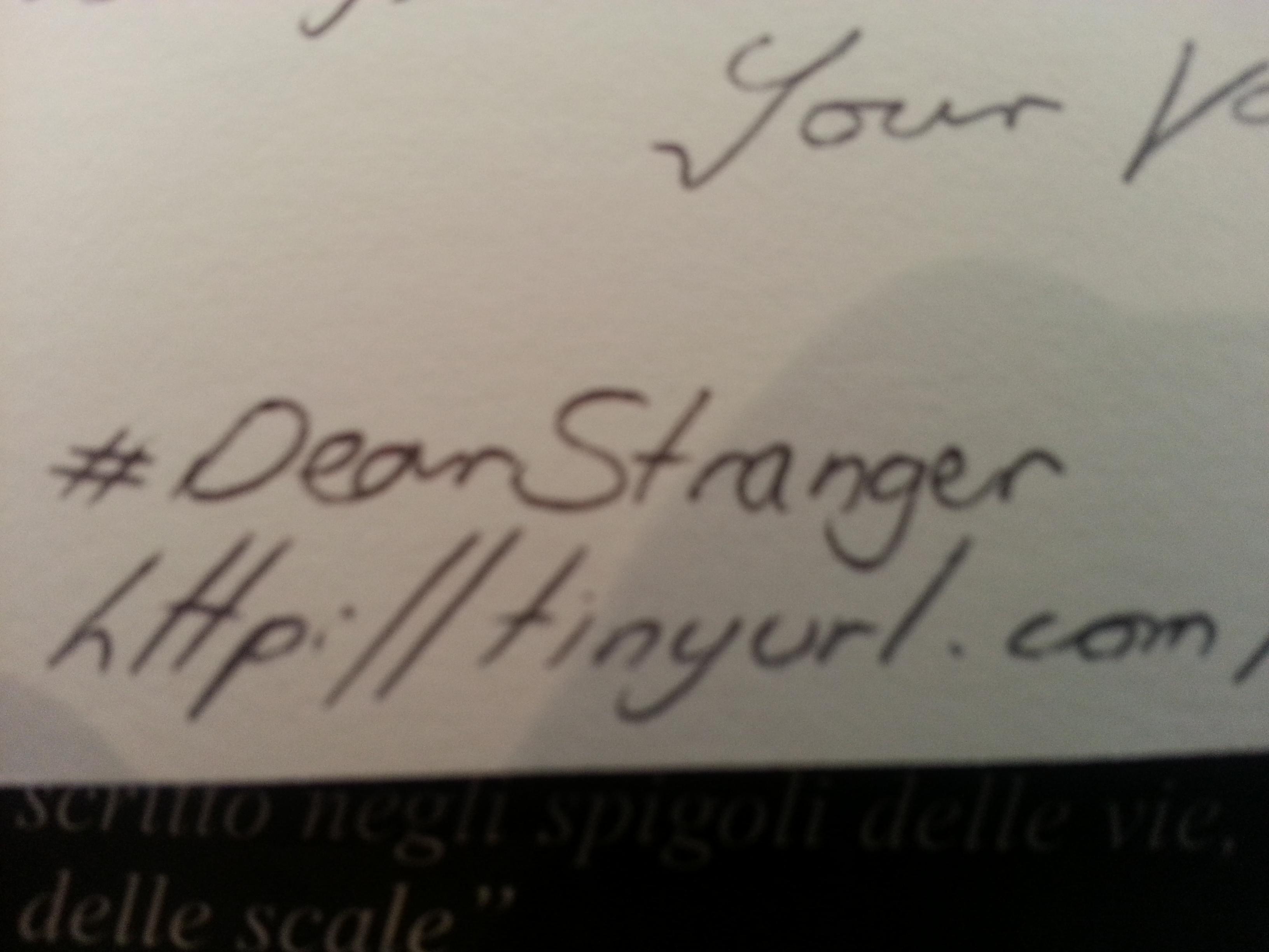 Dear Stranger, Elise K. Ackers
