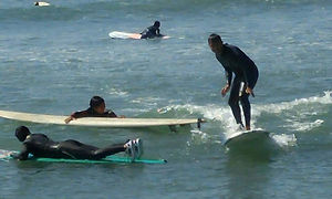 Surfing Trip - Indian students learning