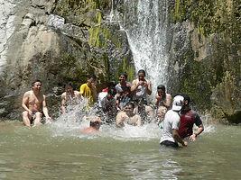 Eaton Canyon hiking trip with internatio