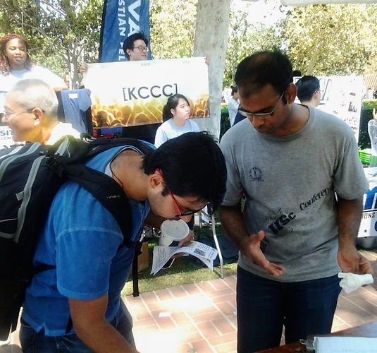 Prasanth at Student Involvement Fair Fal