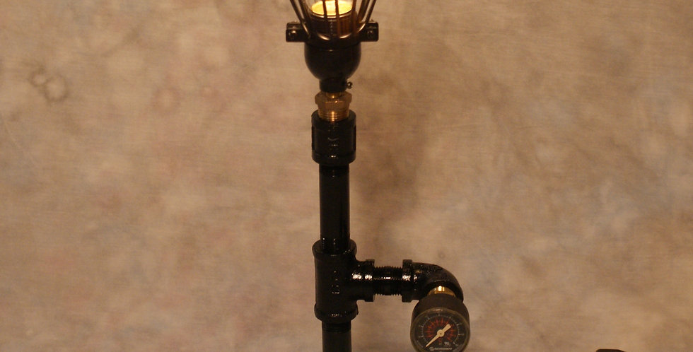 Industrial Pipe Steampunk Lamp