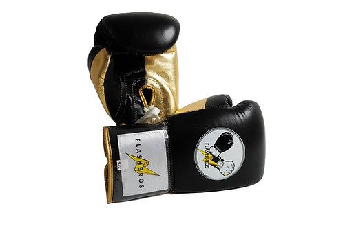 Pro Boxing Gloves- Black/Gold