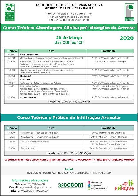 20 de março - Abordagem Clinica pré-cirúrgica da artrose